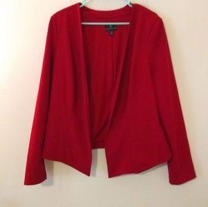 Worthington Red Open Jacket/Blazer